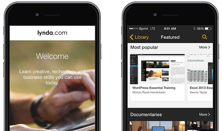 lynda mobile app