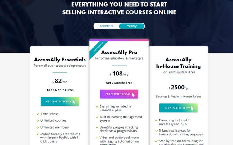 price plan on accessally