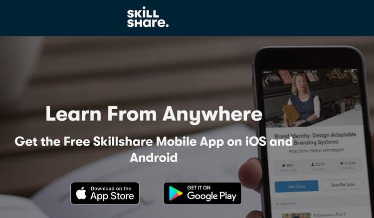 skillshare mobile app