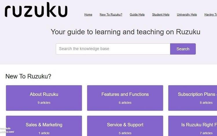 ruzuku ease of use