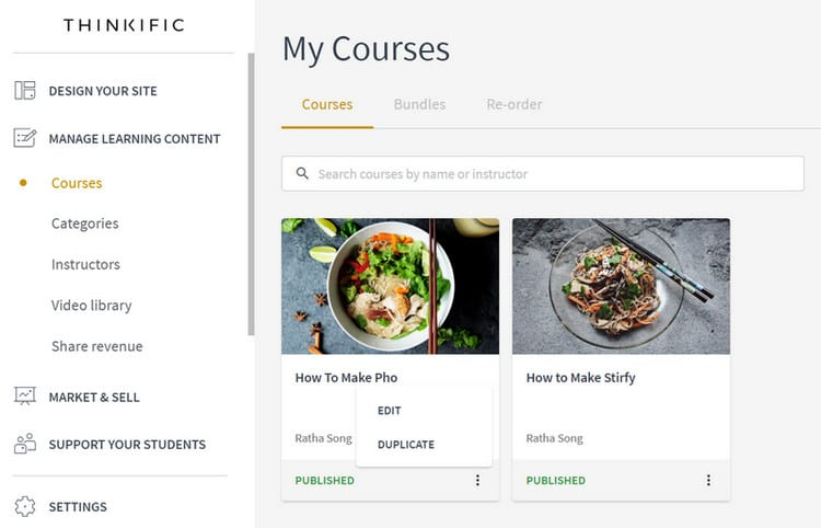 thinkific courses