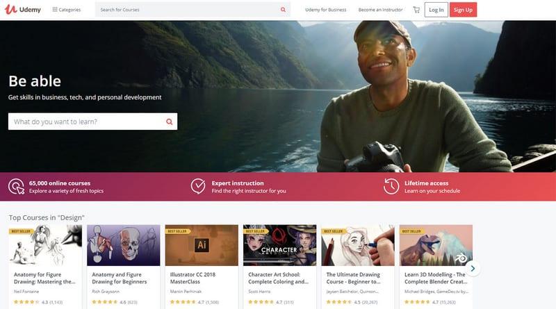 Udemy homepage