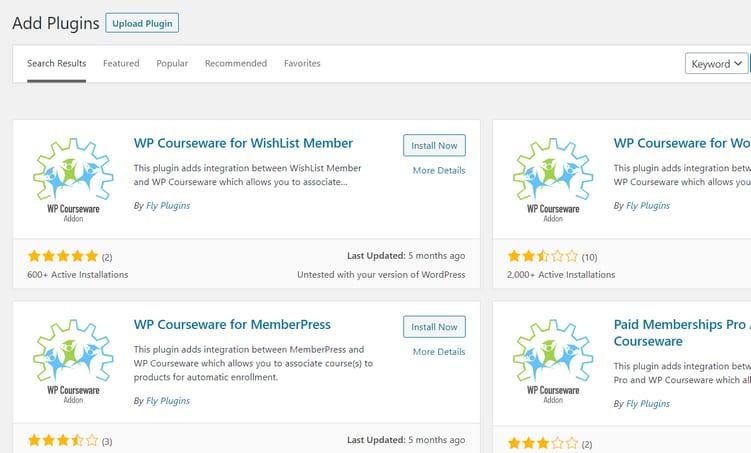 wp courseware plugin
