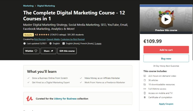 12 Courses in 1 - The Complete Digital Marketing Course