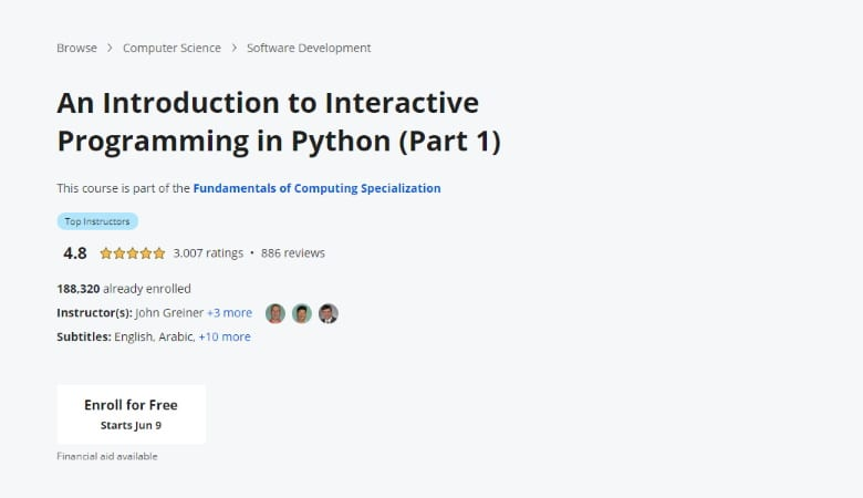 An Introduction to Interactive Programming in Python (Part 1)