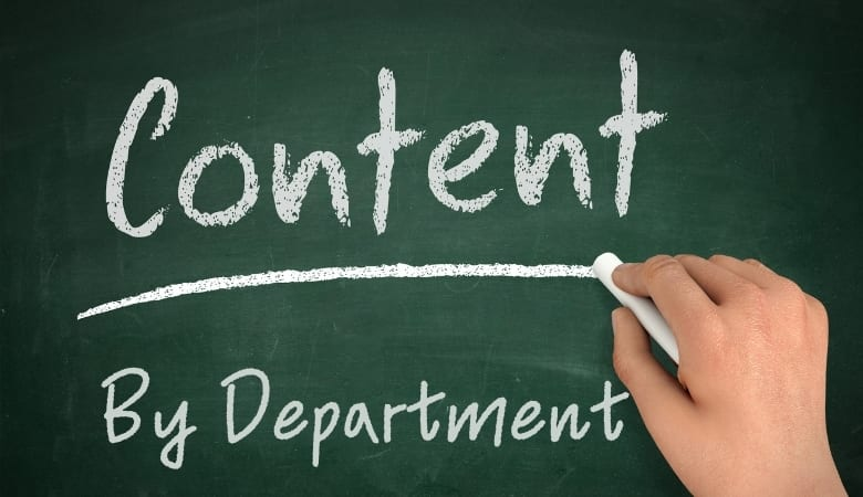 Content By Department