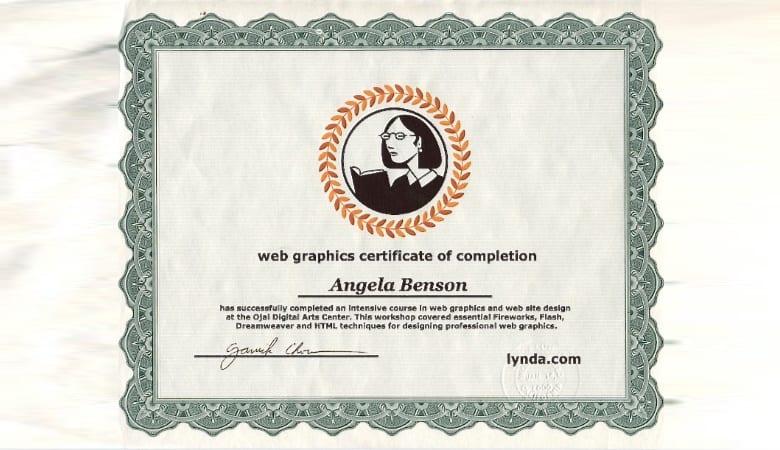 Lynda Certificate